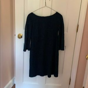 Dark green/blue knit dress